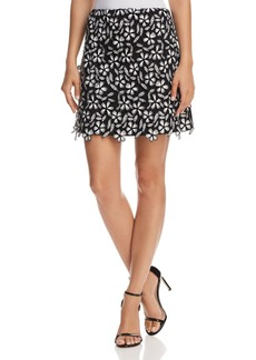 FRENCH CONNECTION Fulaga Floral Lace Mini Skirt