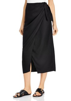 French Connection Gabina Draped Sarong Midi Skirt
