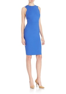 French Connection Geometric Cutout Sheath Dress