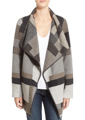 French Connection Geometric Print Blanket Coat