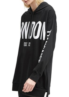 French Connection Graphic Jersey Hooded Sweatshirt