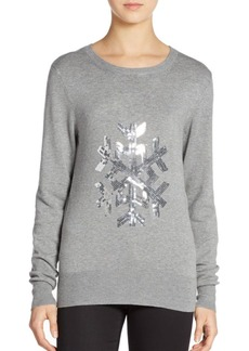 French Connection Graphic Sequined Snowflake Sweater