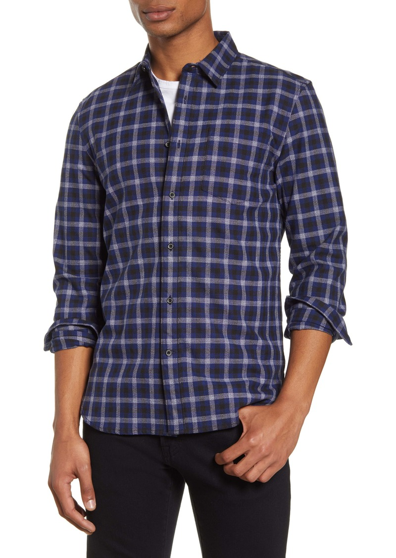 French Connection Grindle Regular Fit Plaid Button-Up Shirt