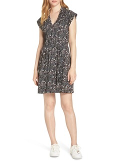 French Connection Hallie Cap Sleeve Floral Print Dress
