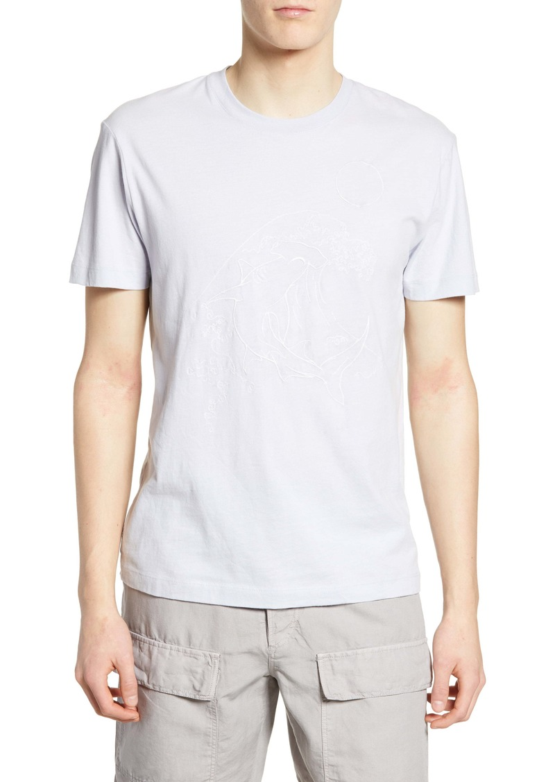 French Connection Hammerhead Wave Graphic T-Shirt