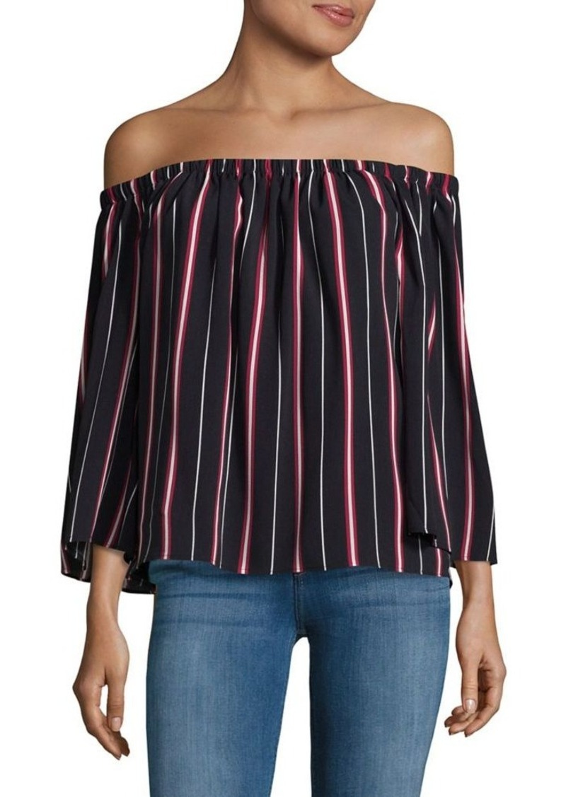 French Connection Hasan Striped Off-the-Shoulder Dress