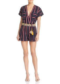 FRENCH CONNECTION Hasan Striped Romper