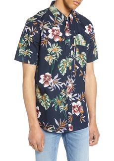 French Connection Hawaii Print Shirt
