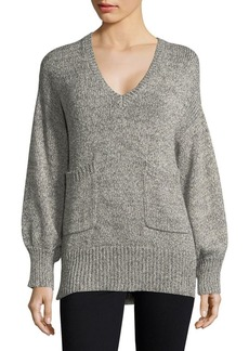French Connection Heathered V-Neck Sweater