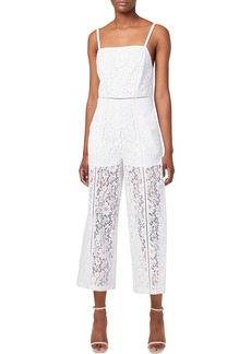 French Connection Helenie Crop Lace Jumpsuit