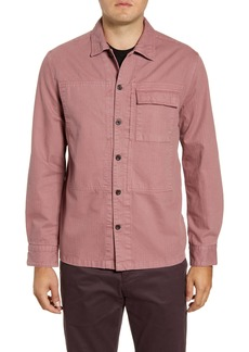 French Connection Herringbone Cotton Shirt Jacket