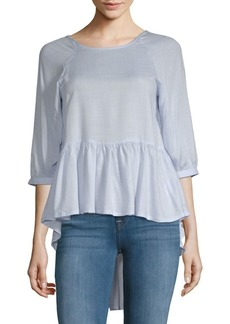 French Connection Hi-Lo Peplum Top
