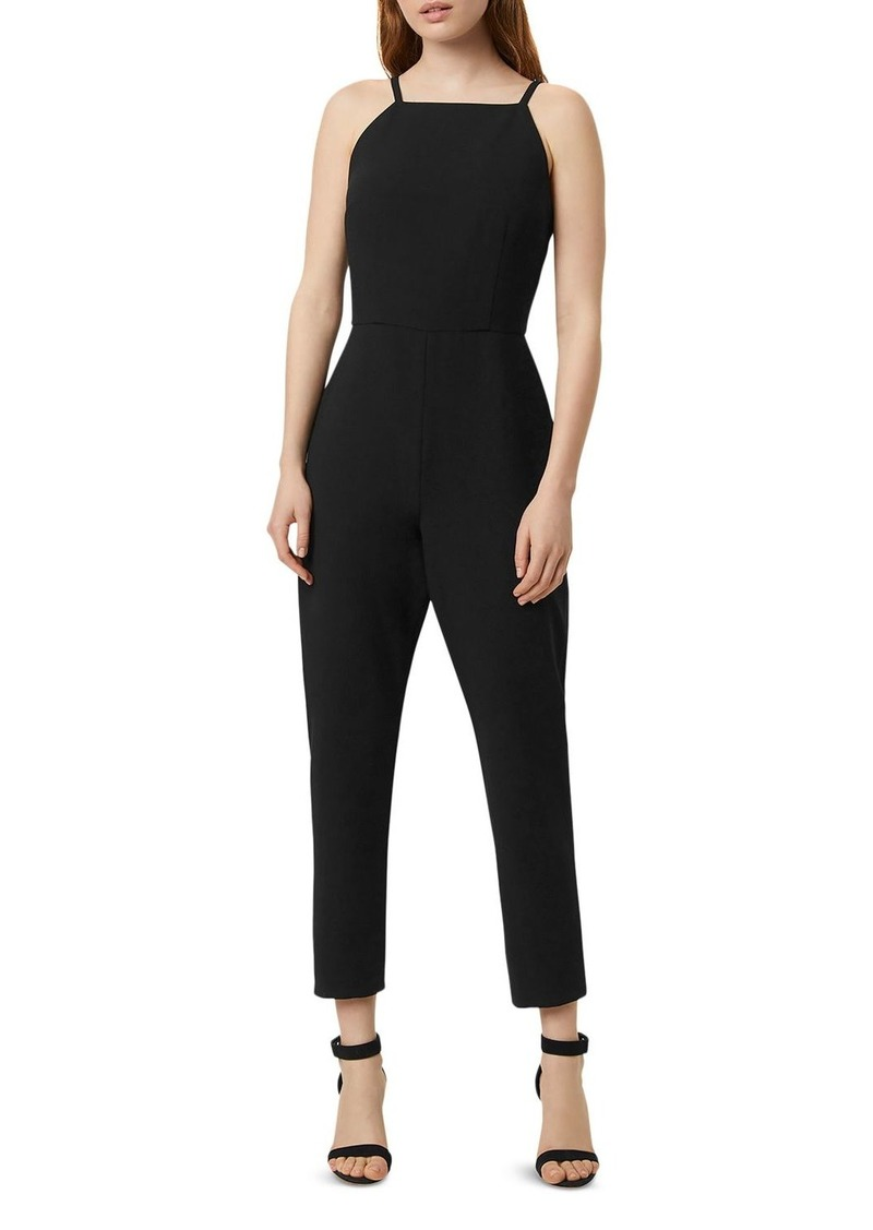 FRENCH CONNECTION High-Neck Tapered-Leg Whisper Jumpsuit