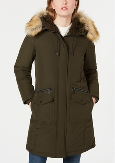 French Connection Hooded Faux-Fur-Trim Down Parka, Created for Macy's