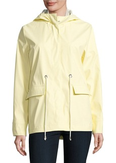 FRENCH CONNECTION Hooded Hi-Lo Rain Jacket