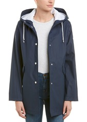 French Connection Hooded Slicker Coat