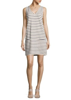 French Connection Horizontally-Striped Shift Dress