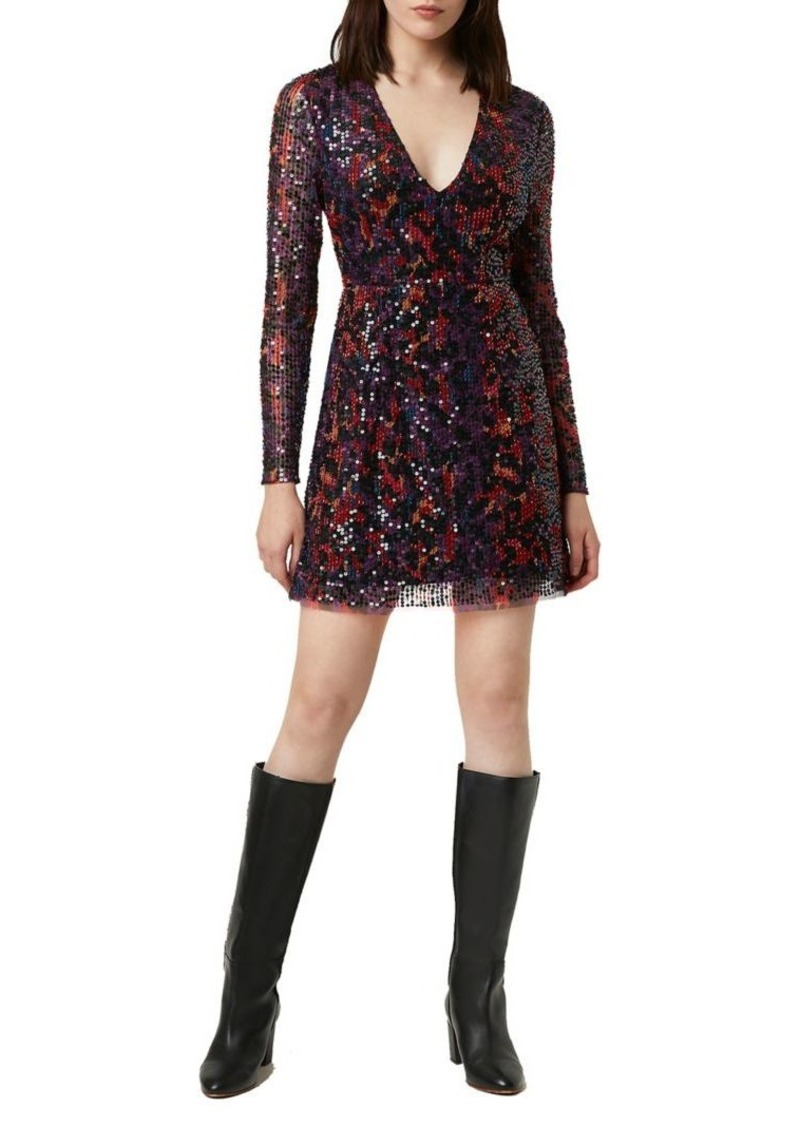 French Connection Inari Embellished Leopard Dress