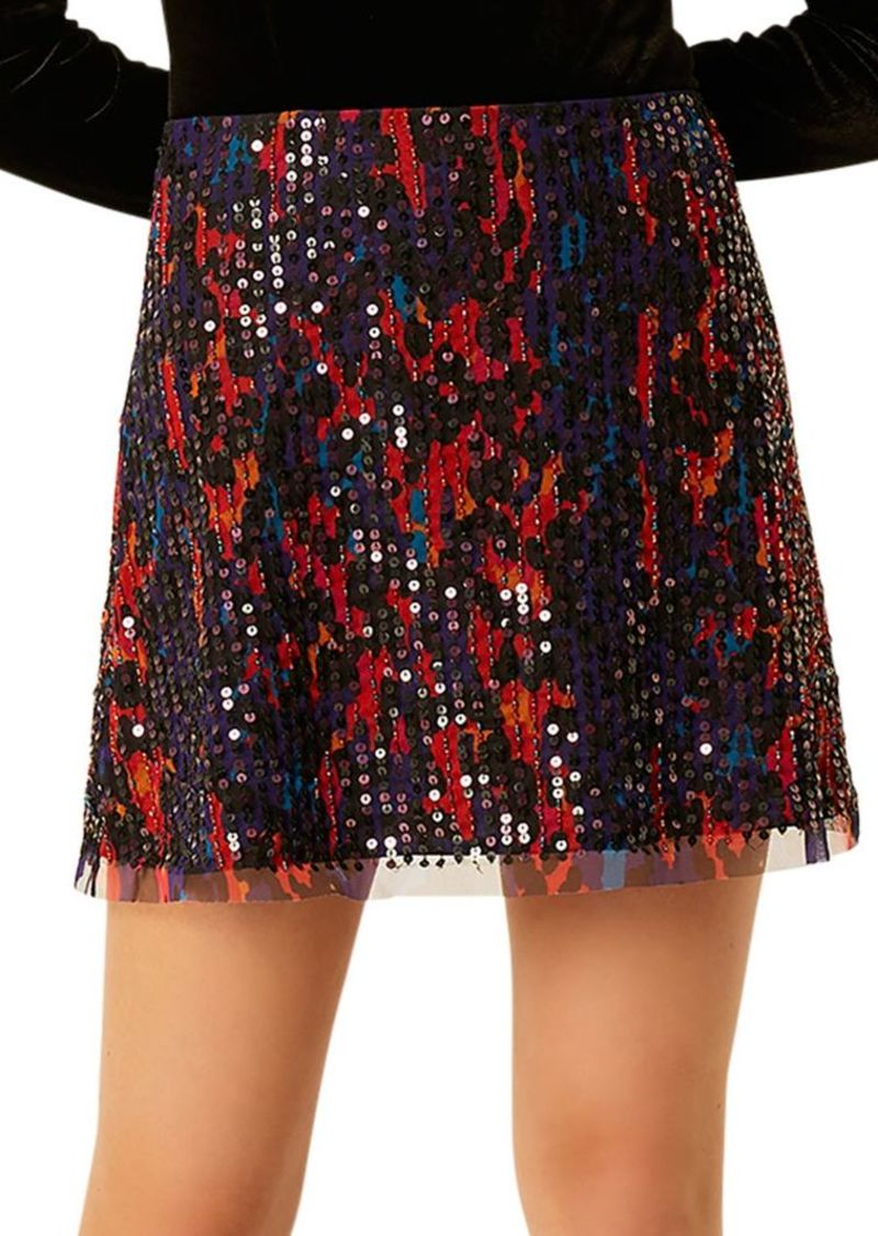 French Connection Inari Sequin Embellished Skirt