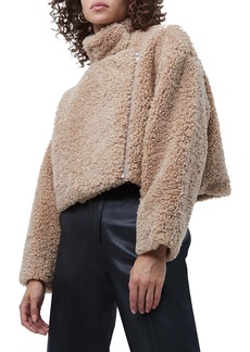 French Connection Iren Faux Shearling Crop Jacket