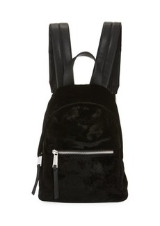 French Connection Jace Small Velvet Backpack