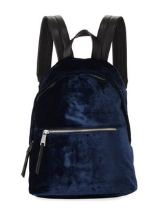 French Connection Jace Velvet Zip-Around Backpack