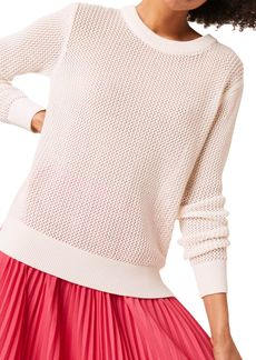 FRENCH CONNECTION Jade Mesh Stitch Sweater
