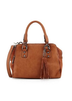 French Connection Jenny Faux-Leather Satchel Bag