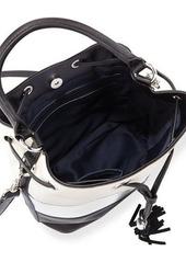 French Connection Jill Drawstring Striped Bag