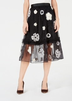 French Connection Josephin Embellished A-Line Skirt