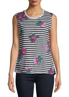 French Connection Jude Floral Sleeveless Cotton Top