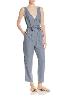 FRENCH CONNECTION Julienne Pinstriped Sleeveless Jumpsuit