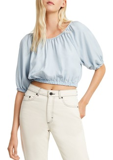 FRENCH CONNECTION Julienne Shirred Cropped Top