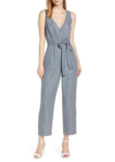 French Connection Julienne Stripe Belted Jumpsuit