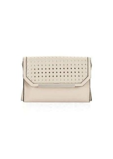 French Connection Karen Basketweave-Flap Clutch Bag