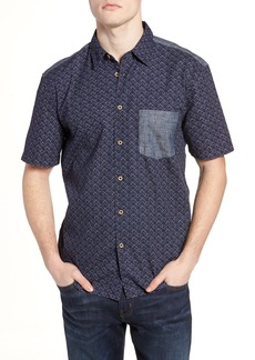 French Connection Kast Relaxed Fit Short Sleeve Sport Shirt