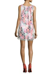 French Connection Key West Lights-Print Sleeveless Dress