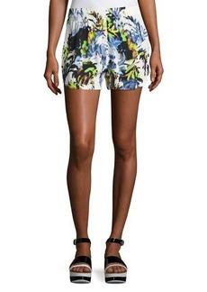 French Connection Kiki Palm Drape Shorts