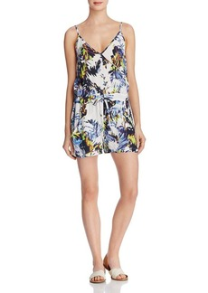 FRENCH CONNECTION Kiki Palm Printed Romper