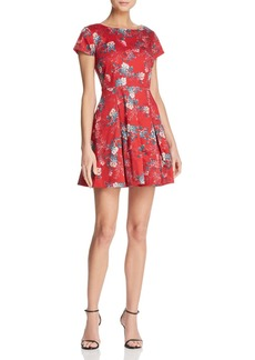 FRENCH CONNECTION Kioa Pleated Floral-Print Dress