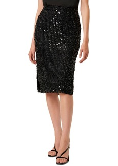 French Connection Knee-Length Sequin Skirted Dress