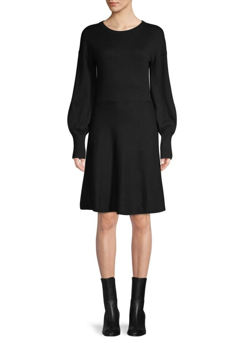 French Connection Knit Puff-Sleeve Dress