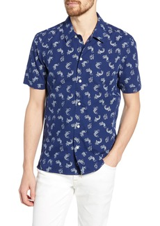 French Connection Koi Print Slim Fit Shirt