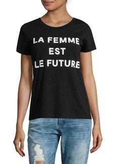 French Connection La Femme Graphic Cotton Tee