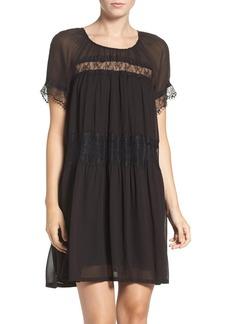 French Connection Lace & Chiffon Babydoll Dress