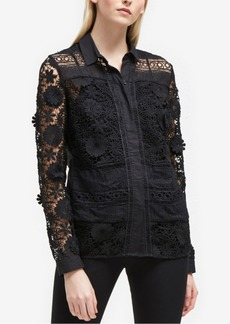 French Connection Lace-Front Shirt