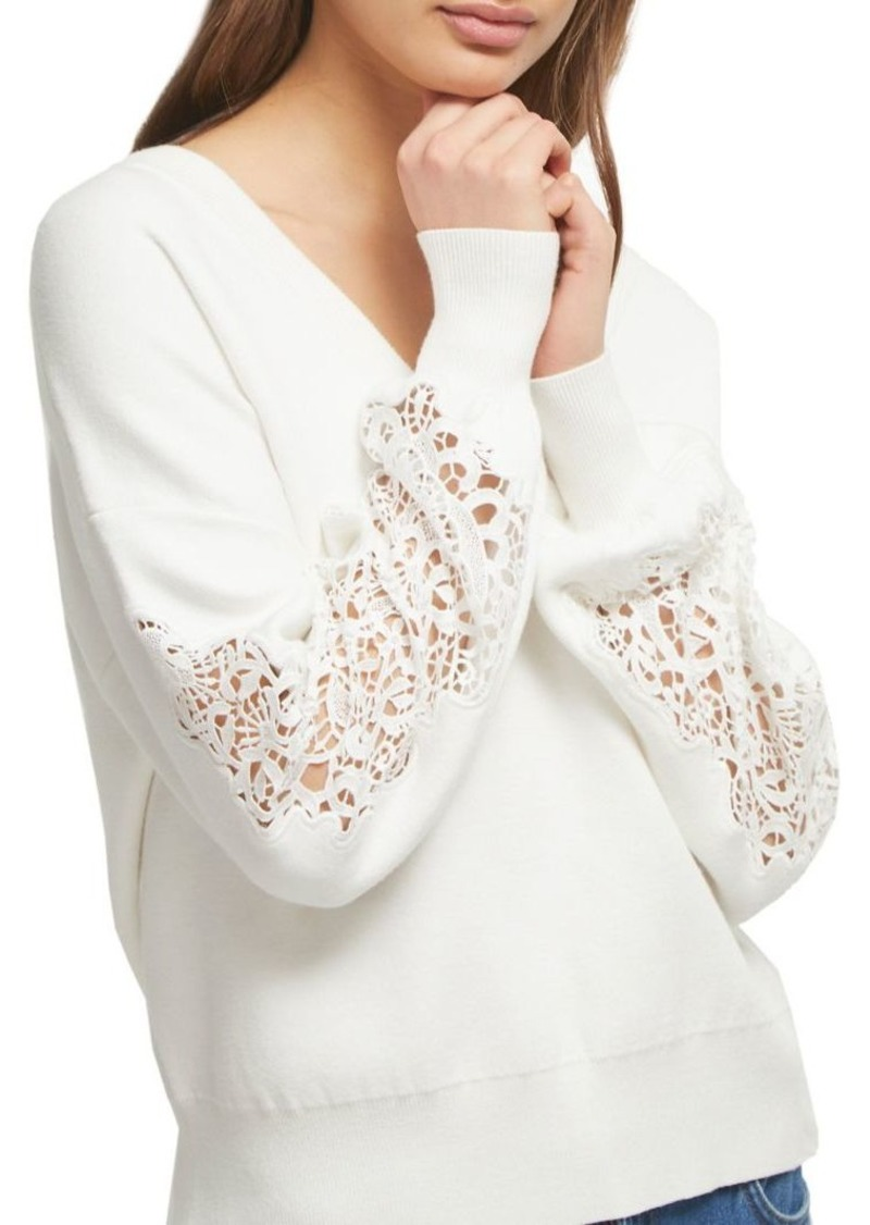 French Connection Lace-Inset Sweater