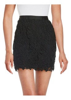 FRENCH CONNECTION Lace-Overlay Mini Skirt