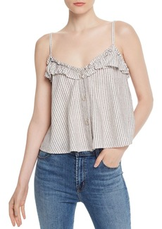 FRENCH CONNECTION Laiche Striped Ruffled Camisole Top