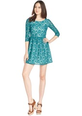 French Connection lake green 'Lizzie Lace' three q...